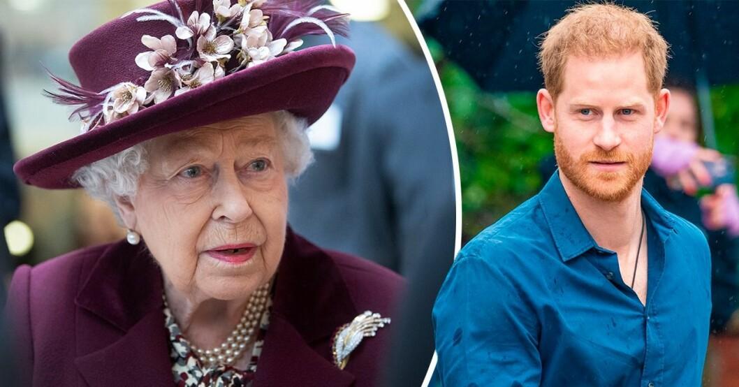Drottning Elizabeth och prins Harry