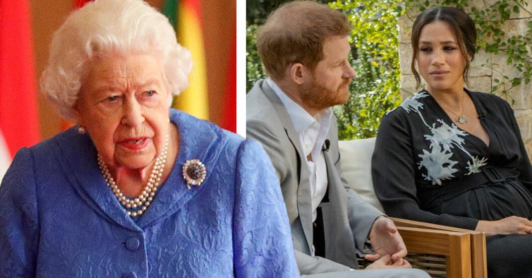 Drottning Elizabeth, prins Harry, Meghan Markle