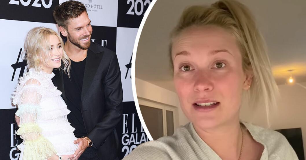 """Höggravida Ellen Bergström avslöjar stora oron inför förlossningen: """"Panik"""""""