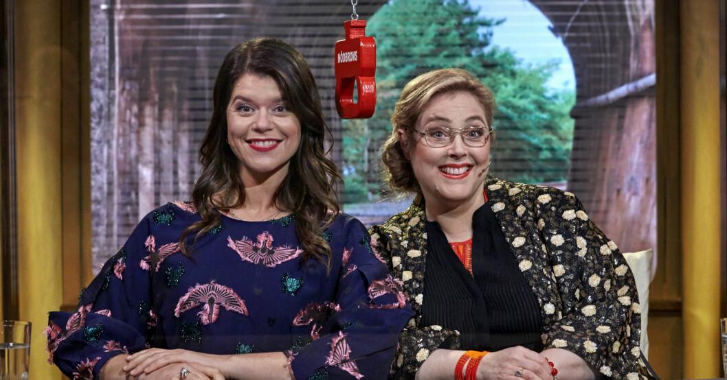 Emma Molin och Hanna Dorsin i På Spåret