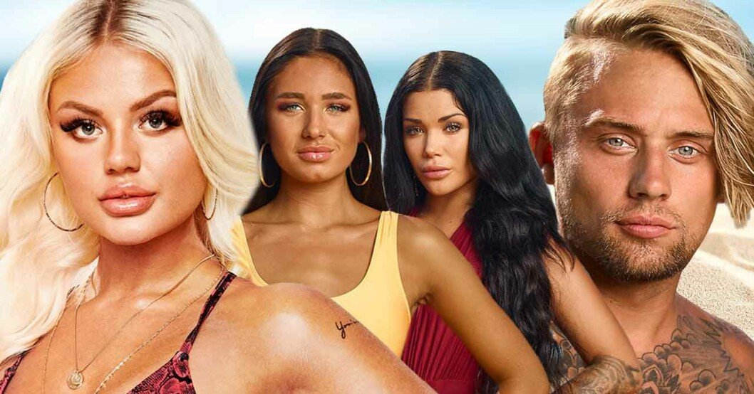 Julia Markham, Elin Skog, Diana Baban, Adrian Montin i Ex on the beach.