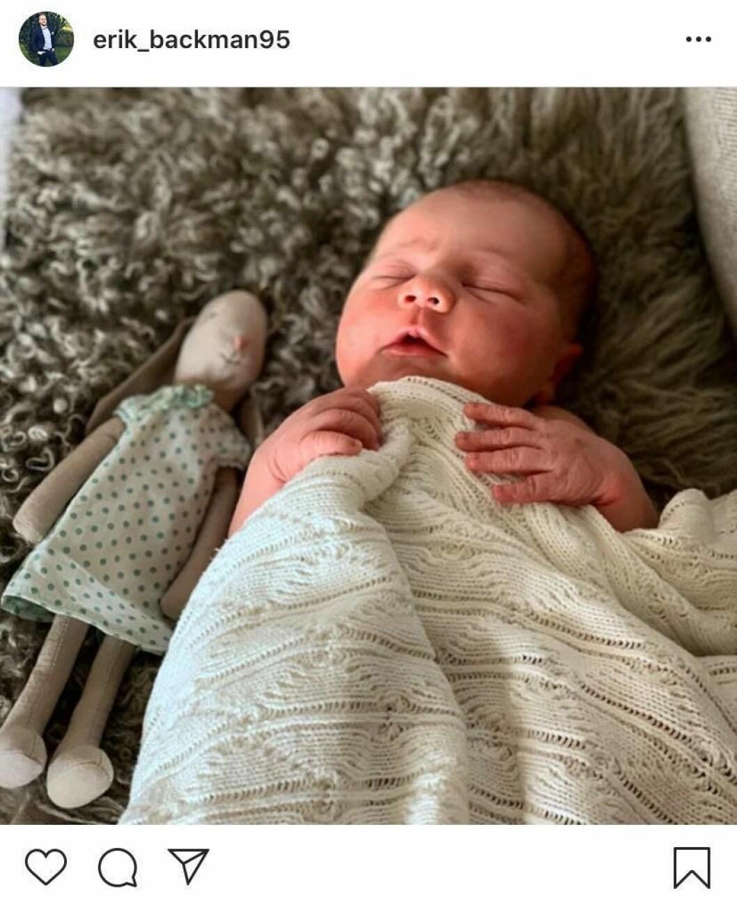 Erik Bäckman har blivit pappa