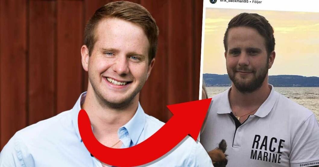 Erik Bäckmans nya flickvän efter Linnea Åberg