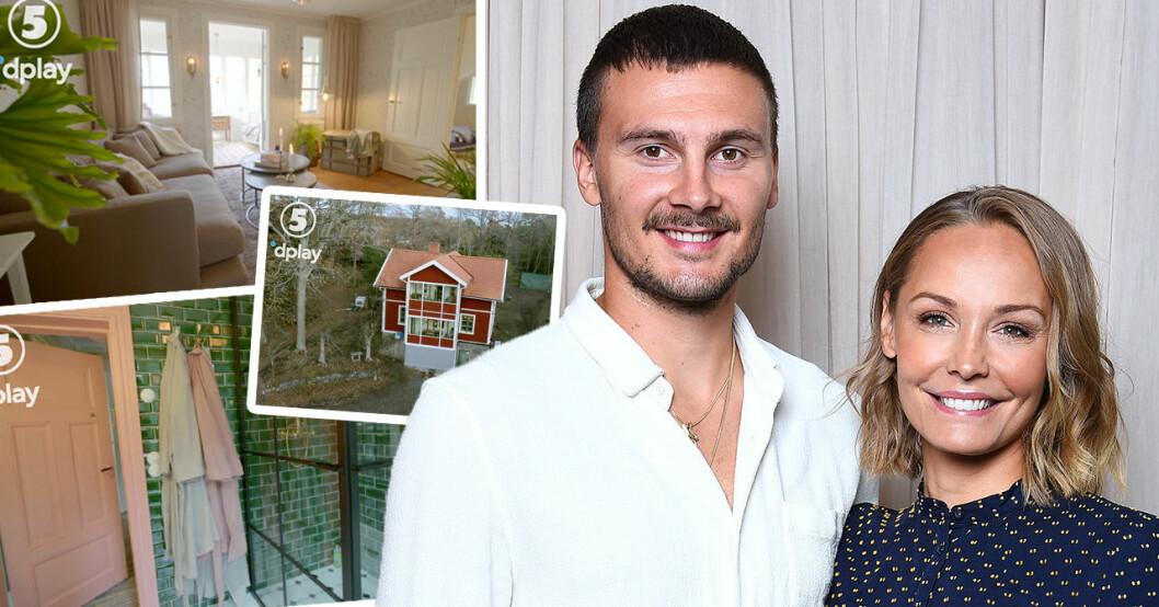 Carina och Erik Berg visar upp huset efter renoveringen – se exklusiva bilderna
