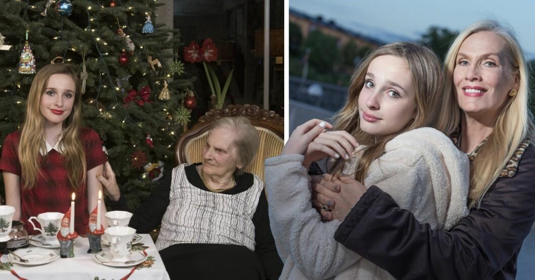 Erika Persson, mormor Iris och Gunilla persson