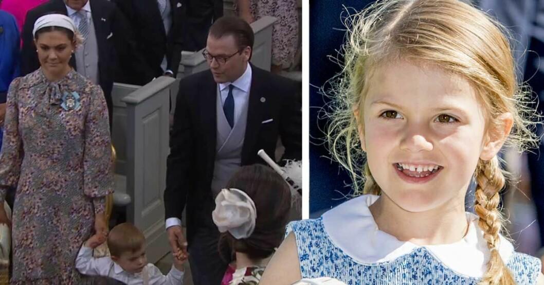 Därför saknas prinsessan Estelle på Adriennes dop