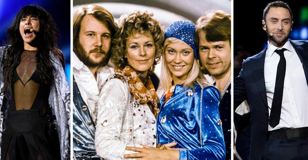Loreen, ABBA och Måns Zelmerlöw