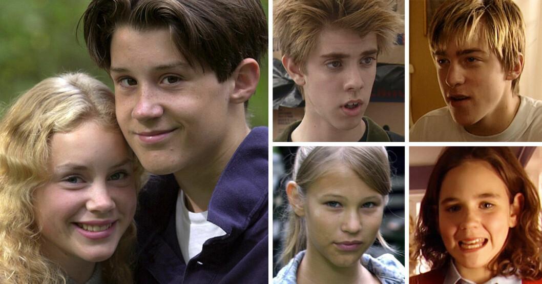Skådespelarna i tv-serien och filmen Eva & Adam 1999-2001.