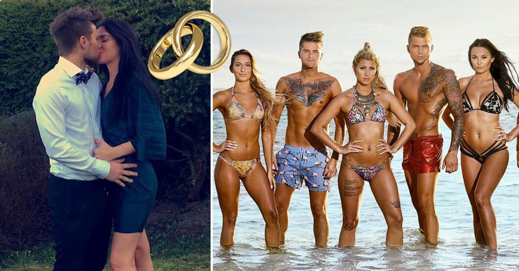 Calle Åberg från Ex on the beach Sverige har förlovat sig med flickvän Mariam Hanna.