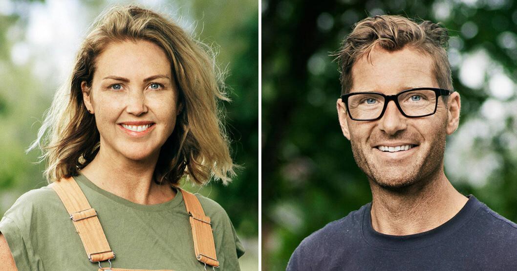Farmen-Erika stöttas av Peter Bysell efter skilsmässan.
