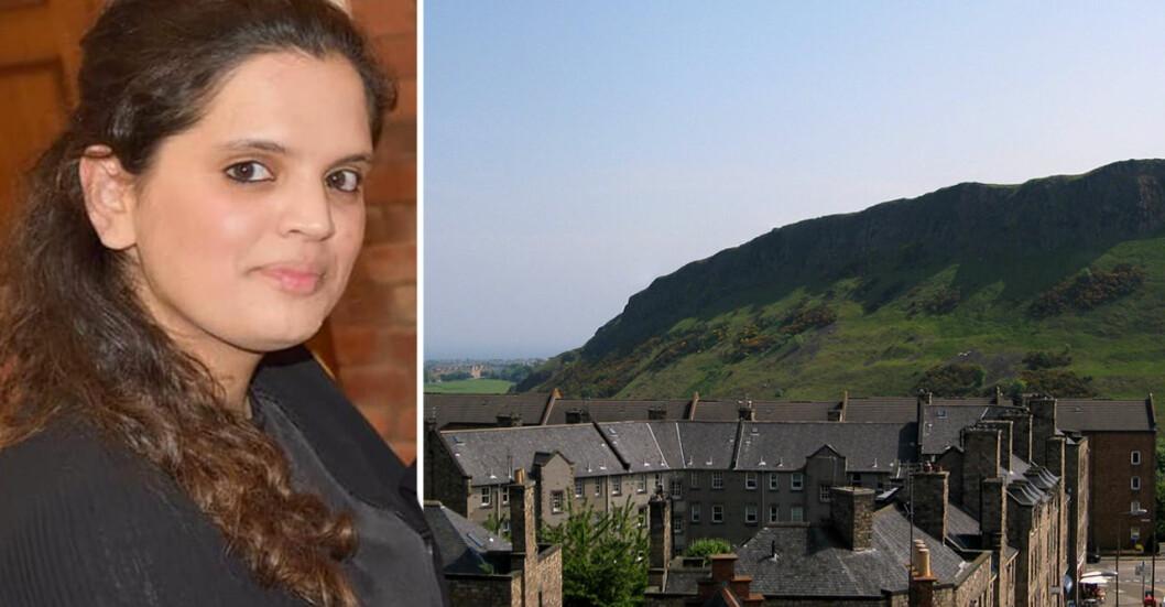 Fawziyah Javed dog när hon föll ner från Arthurs seat i Edingburgh. Nu misstänks hennes make för att ha orsakat hennes död.