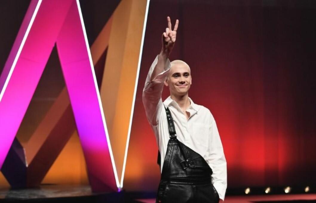 Felix Sandman inför Melodifestivalen 2020.