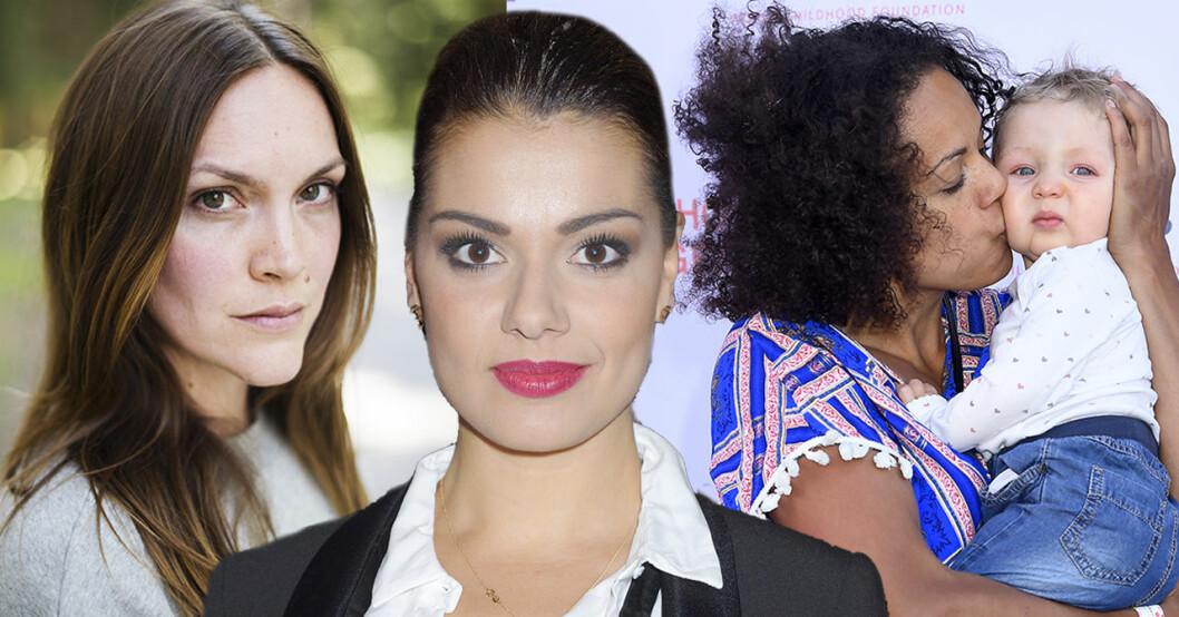 Brita Zackari, Carin Da Silva och Elaine Eksvärd har alla gått igenom tuffa förlossningar.