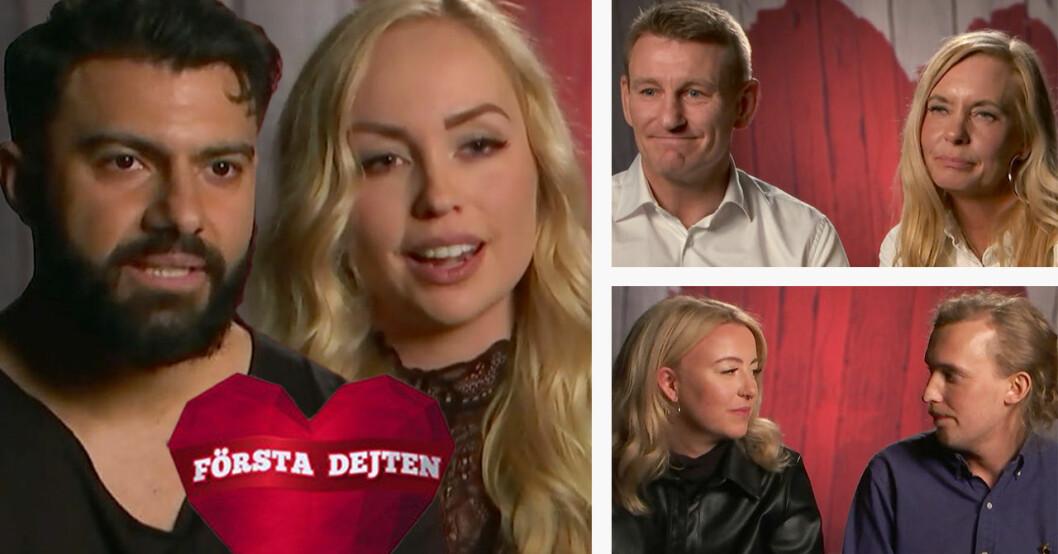 Ema Persson, Tiina Rankanen och Christian Lundgren var med i Första dejten 2019.