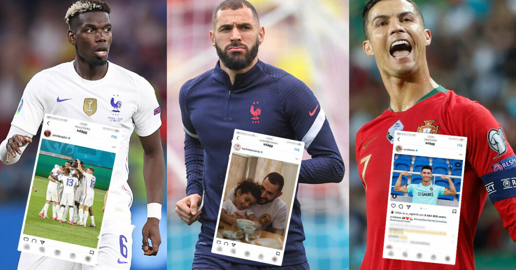 Paul Pogba, Karim Benzema och Cristiano Ronaldo