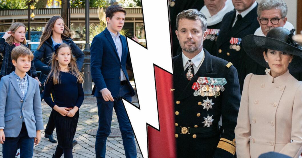 Kronprins Frederik och Mary flyttar barnen till Schweiz