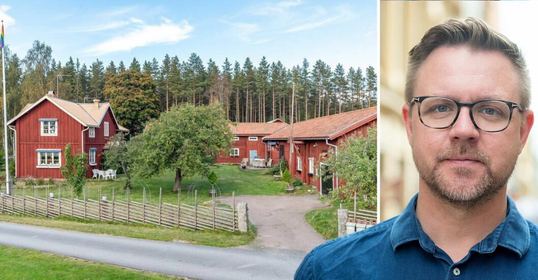<b>Nu säljer politikern sin gård i Dalarna.</b>