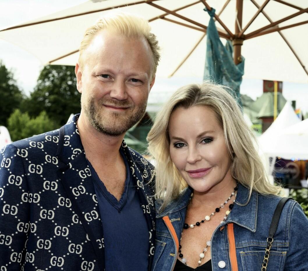 Åsa Vesterlund och Fredrik Berne Invigningsmingel Stockholm Pride