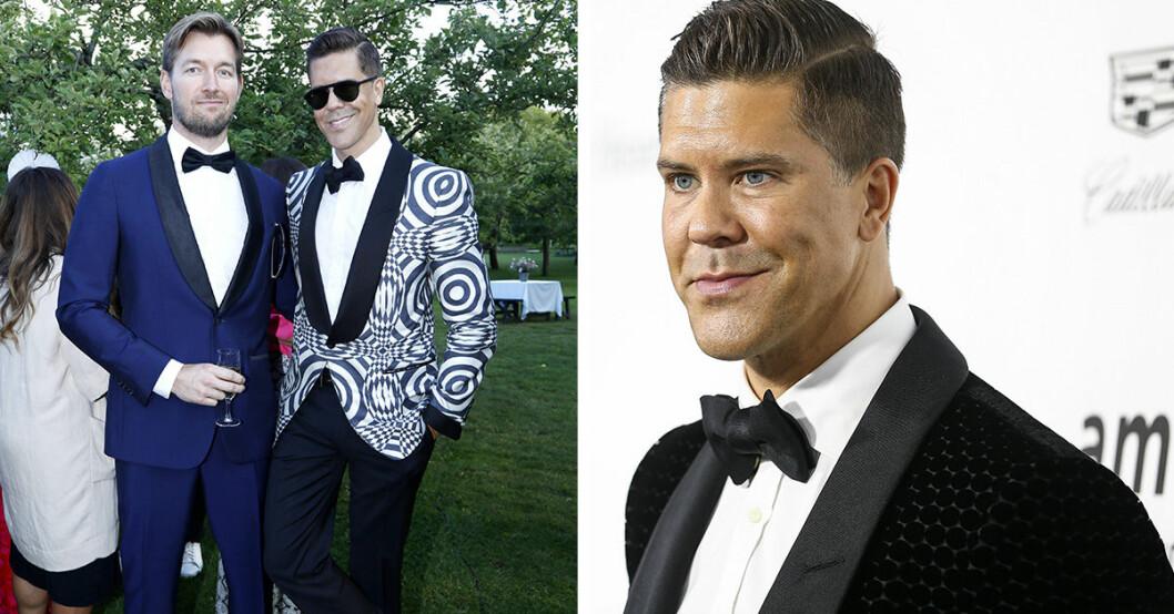 Mäklaren och tv-profilen Fredrik Eklund visar bild på sina tvillingar – hyllas av sina följare