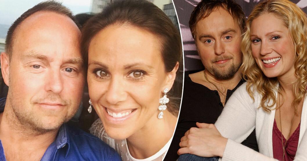 Sofia med maken Johan Edlund och Edlund med sin ex-flickvän Jessica Almenäs.