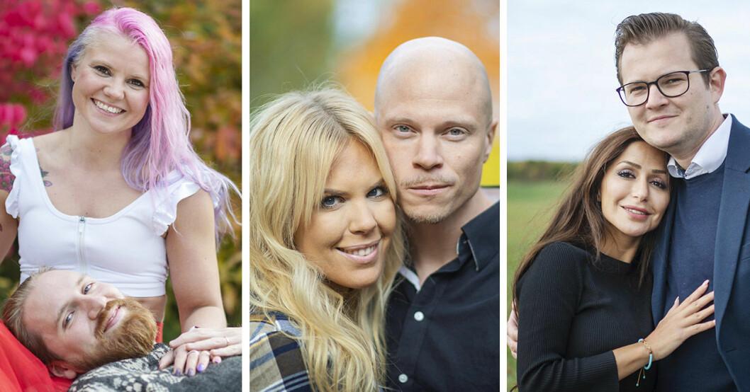 Elina Raeder, Albin Ringstad, Maxine Nordlindh, Emil Nygren, Elahe Eskandari och Jacob Claesson i Gift vid första ögonkastet 2020.