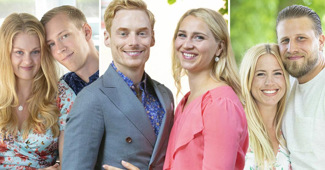 Sofia Lindhe, Anton Pehrson, Lars Ekström, Elinor Sundfeldt, Susanna Lundskog och Johan Skantz i Gift vid första ögonkastet 2021.