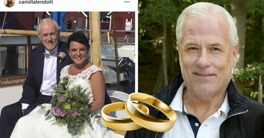 Glenn Hyséns första ord om bröllopet med Camilla Lendott.