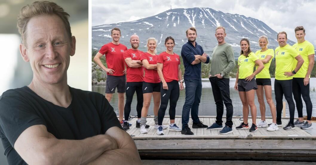 Gunde Svan och alla deltagare i Sverige mot Norge
