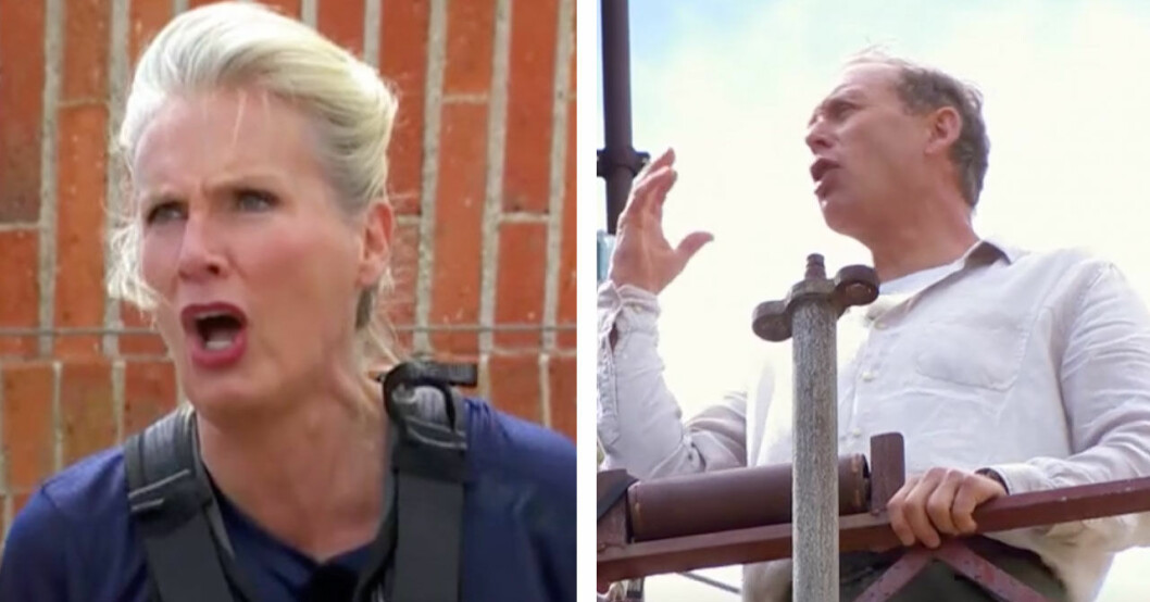 Gunilla Persson och Gunde Svan bråkar i Fångarna på fortet 2020