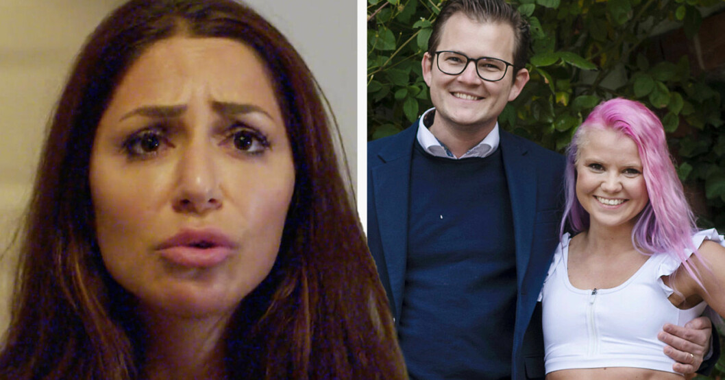 Elahe Eskandari, Jacob Claesson och Elina Raeder i Gift vid första ögonkastet 2020.