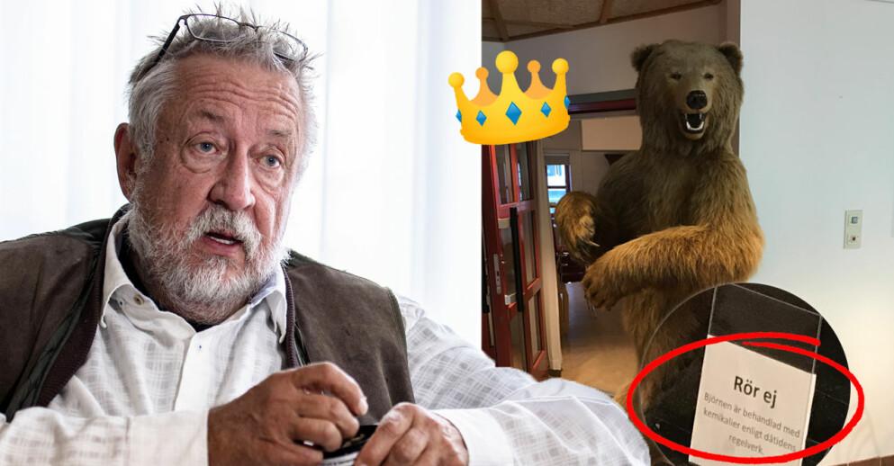 Professor Leif GW Persson har sin teori om björnstölden.