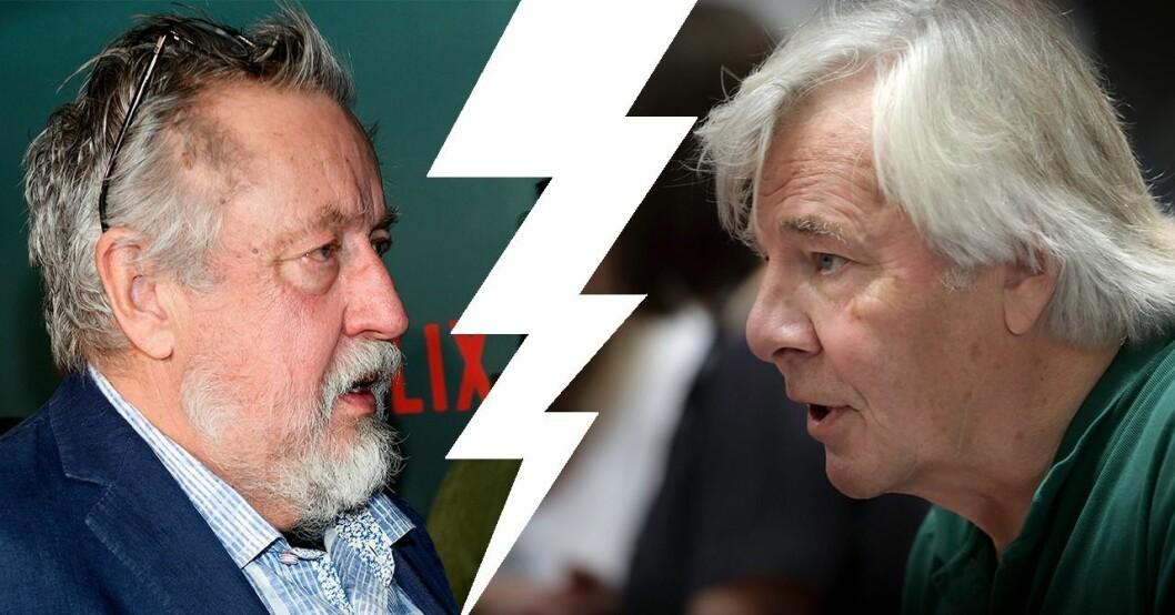 Leif GW Persson och Jan Guillou
