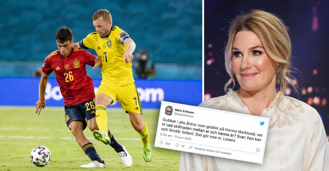 Hanna Marklund får mycket kritik för sitt sätt att kommentera fotbolls-EM.P