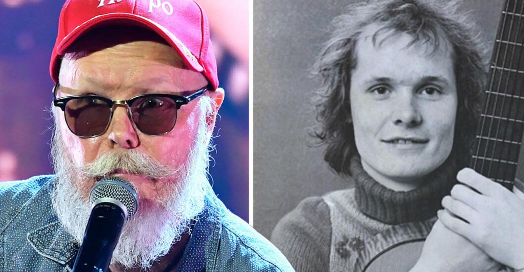"""Jan """"Harpo"""" Svensson på QX-Galan 2018, Jan """"Harpo"""" Svensson 1974."""
