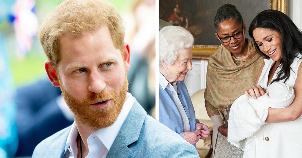Prins harry och Meghan markle kritiseras för dopplanerna för archie