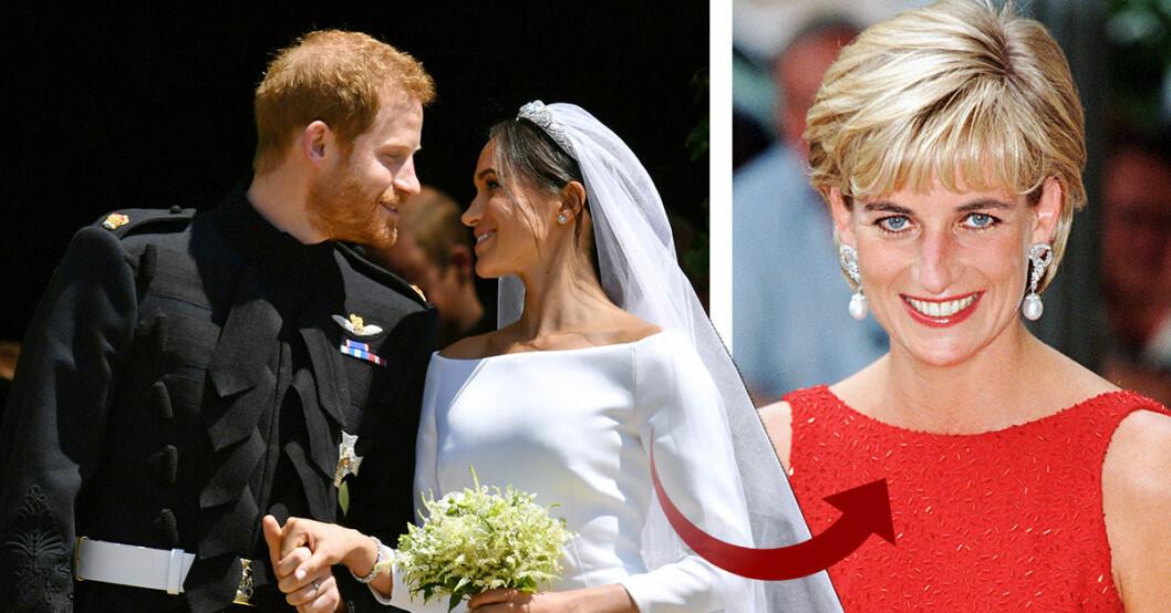 Så hyllade prins Harry och Meghan prinsessan Diana på bröllopet