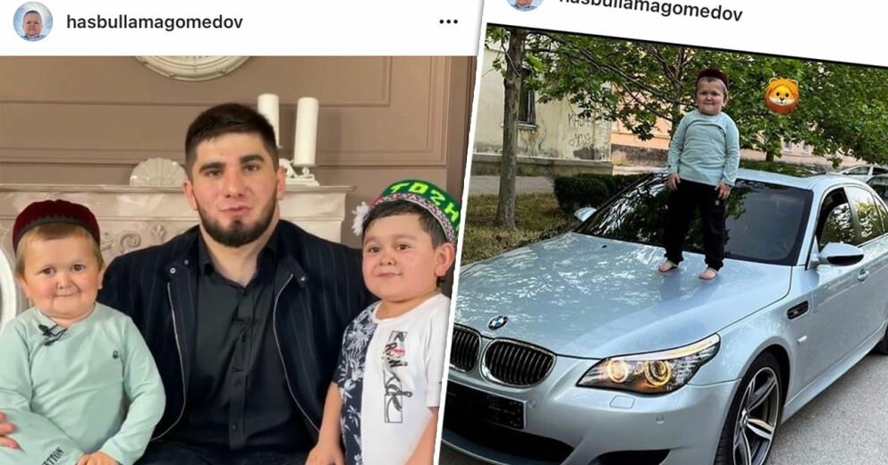 Hasbulla Magomedov, 18, har gjort succé på Tiktok de senaste veckorna när han fajtas med olika personer.