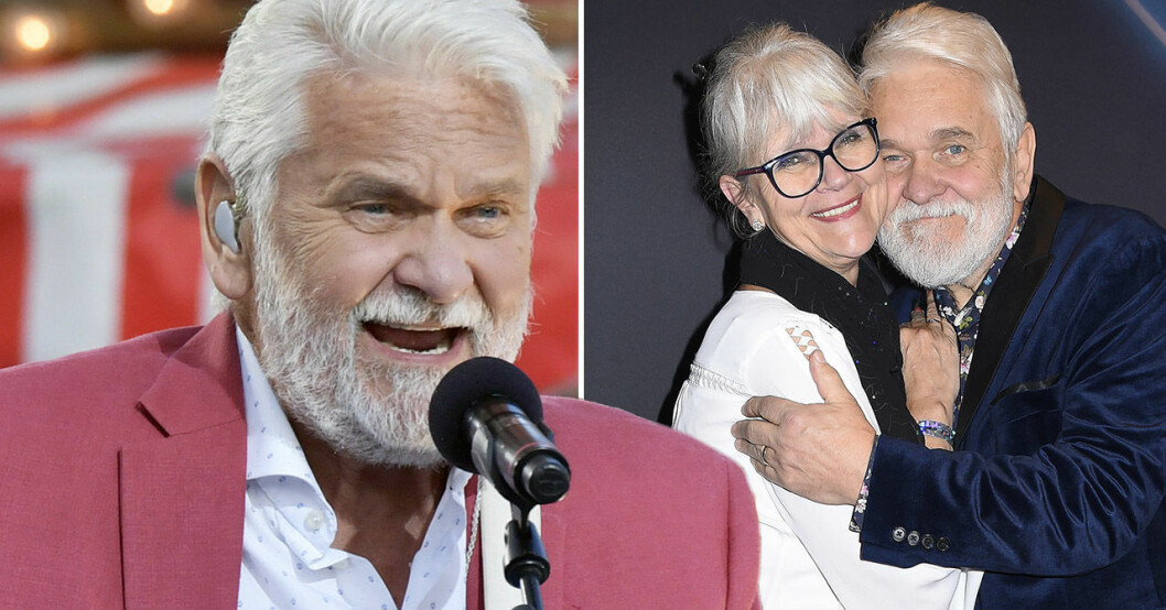 "Hasse ""Kvinnaböske"" Andersson och frun Monica."