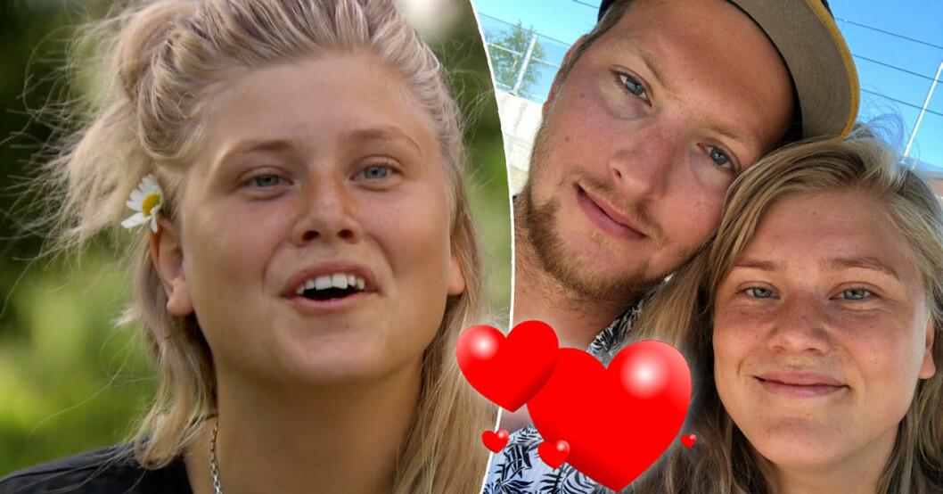 Helena Hedqvist i Farmen 2021 med blivande maken Erik.