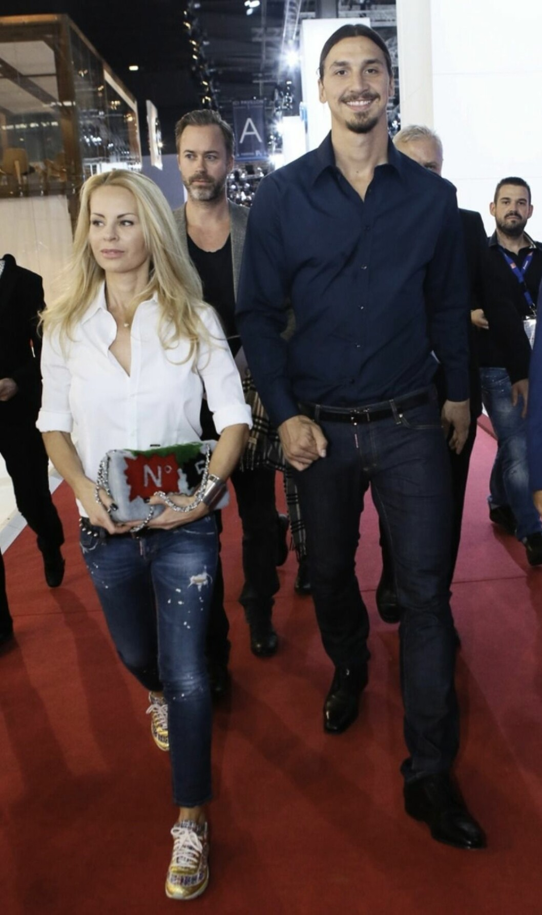 Helena Seger och Zlatan Ibrahimovic på röda mattan