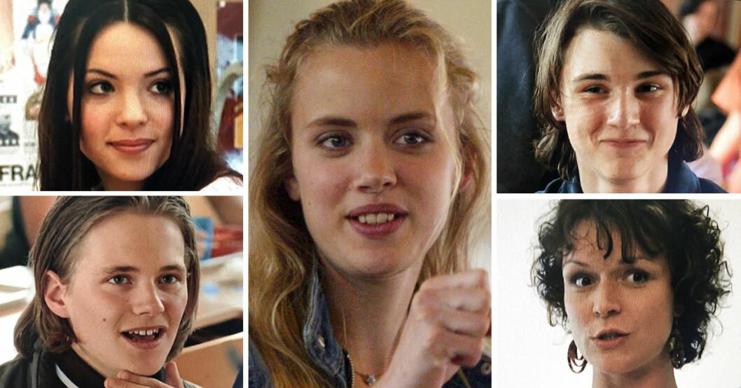 Amanda Renberg, Carla Abrahamsen, Marcus Hasselborg, Björn Davidsson och Josephine Bauer i Hip hip hora!