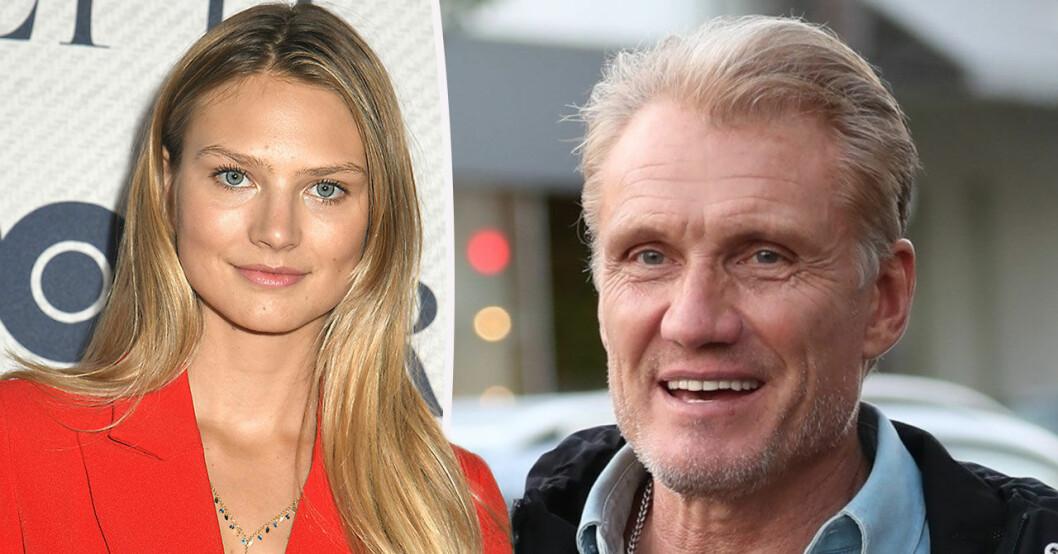 Dolph Lundgrens flickvän träffar jämnåriga dottern.