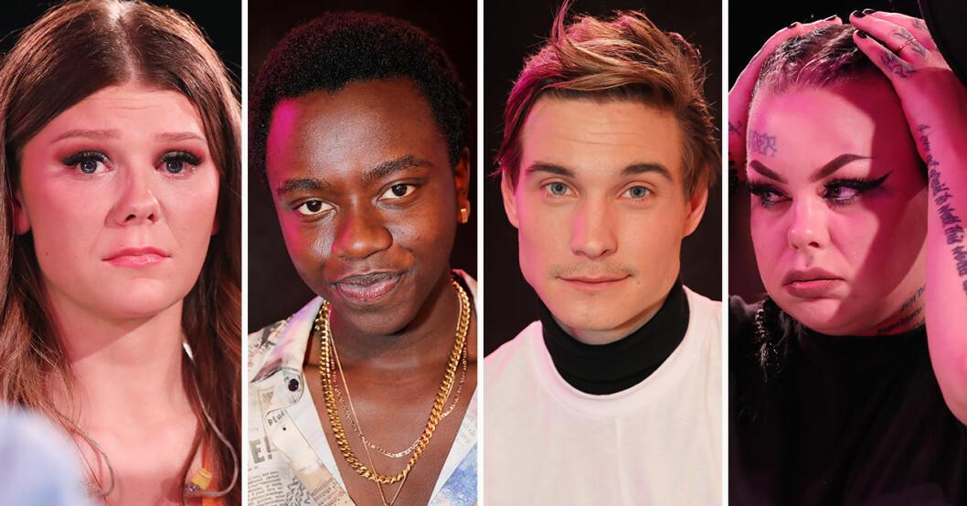 Dao Di Ponziamo Molander, Tusse Chizu, Christoffer Hamberg, Astrid Risberg i Idol 2019.