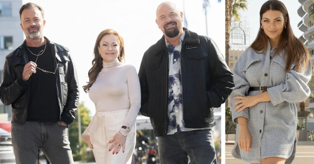 Alexander Kronlund, Kishti Tomita, Anders Bagge och Katia Mosally längd