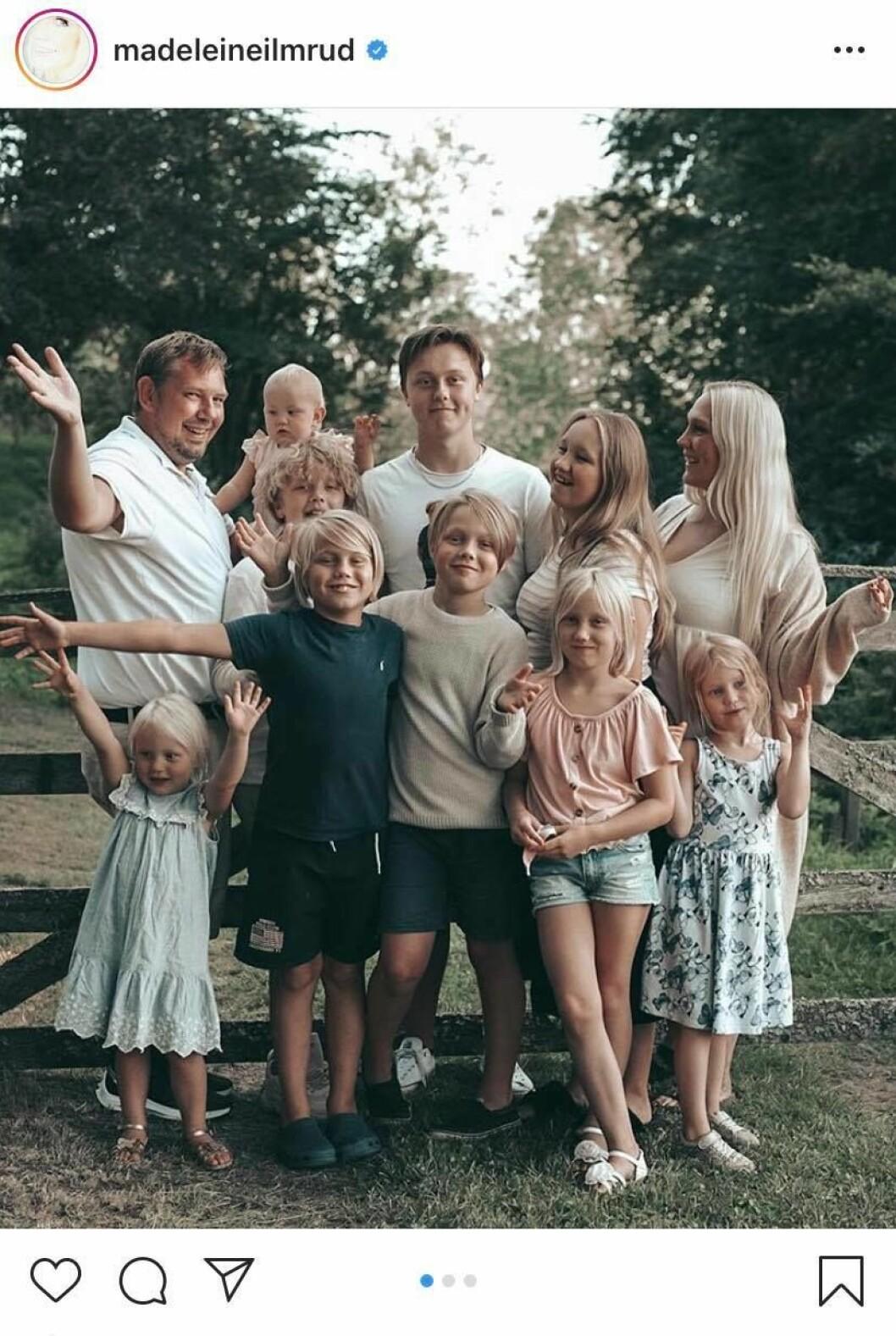 Madeleine Ilmrud med familj