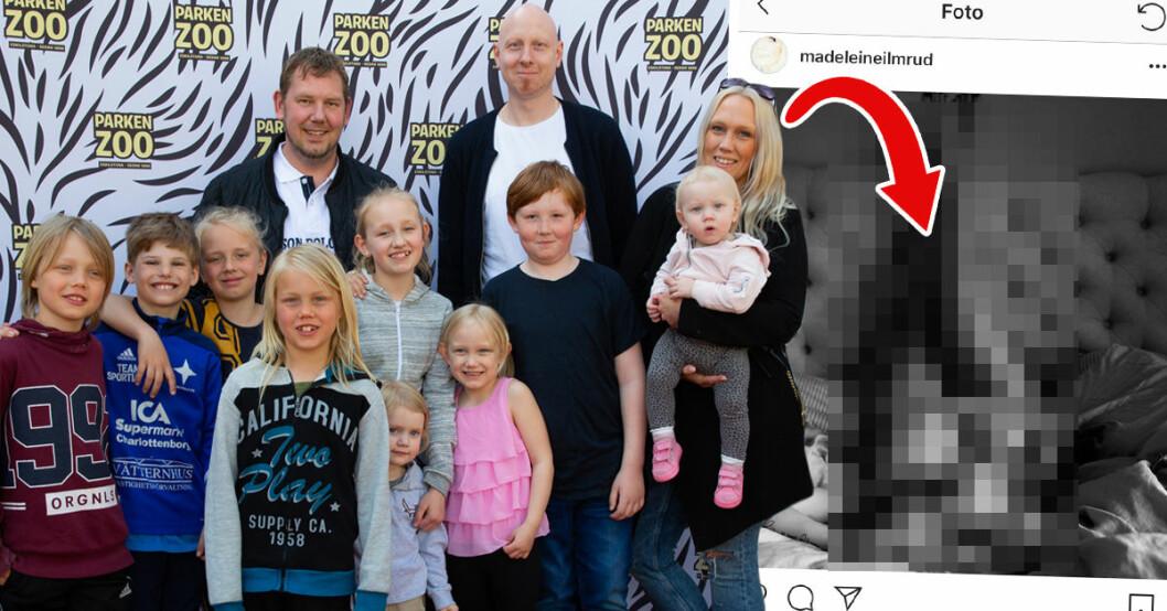 10-barnsmamman Madeleine Ilmrud, från Familjen Annorlunda på TV4, visar nu upp sin kropp efter alla graviditeter.