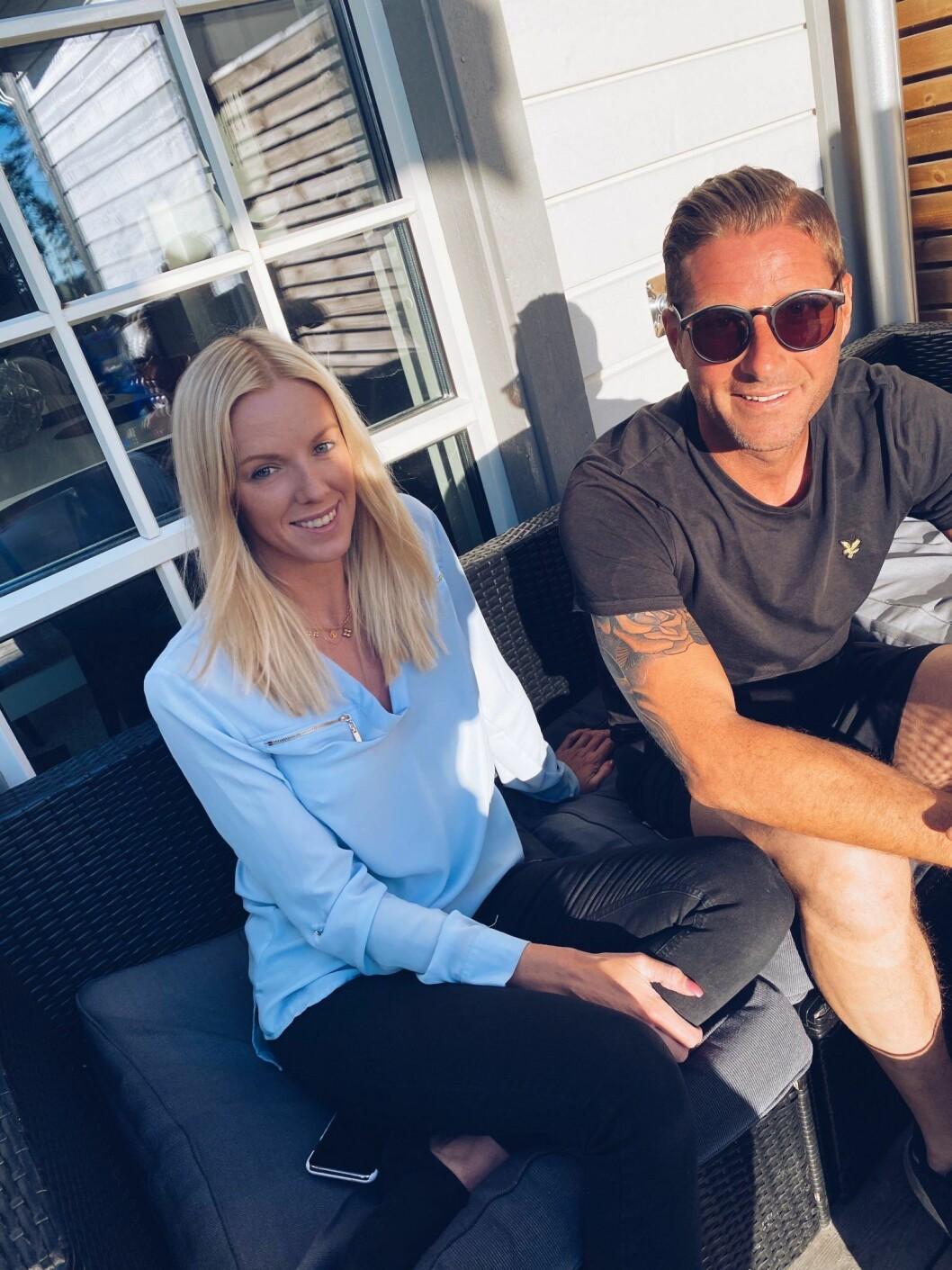 Peter Bysell och flickvännen Sofie