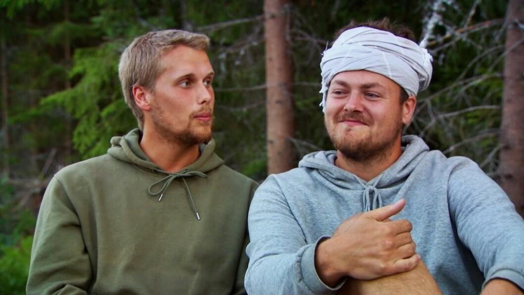 Fredrik Andersson och Simon Axelsson i Farmen