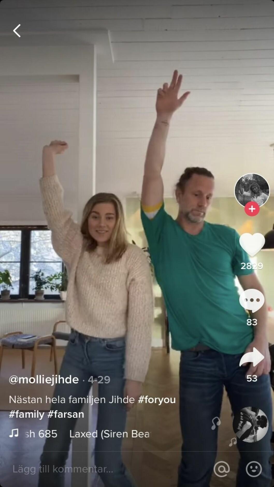 Peter Jidhe dansar med dotter