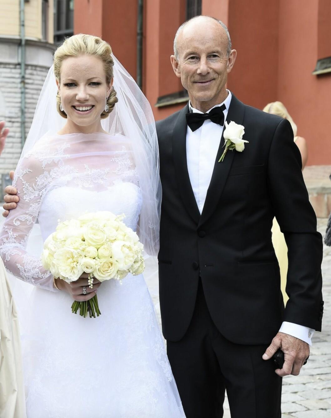 Ingemar Stenmark med sitt barn Nathalie Stenmark
